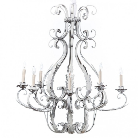 Awesome White Iron Chandelier